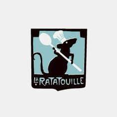 "La Ratatouille restaurant logo, from Pixar's ""Ratatouille"" - for Halloween Ratatouille Disney, Ratatouille 2007, Reference Images, Design Reference, Typography Design, Logo Design, Decoupage, Wall Drawing, Madeira"