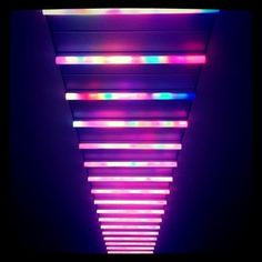 Multicolour light installation, Spitalfields Market, London