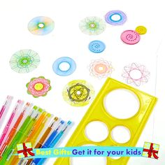 Get ready for hours of fun with the Spirograph Design Tin Set, a must-have for young and old alike With Spirograph's distinctive interlocking gears and wheels, anyone can draw elegant, spiraling designs Inspired by the design of the original 1965 Diy Crafts For Teen Girls, Diy And Crafts, Crafts For Kids, Arts And Crafts, Paper Crafts, Simple Crafts, Kids Christmas, Christmas Videos, Christmas Games