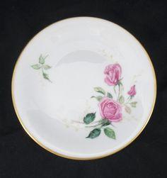 Heinrich Bavaria German Pink Roses Cabinet Tea Plate Side plate Vintage in Pottery, Glass, Pottery, Porcelain, European Makers | eBay!