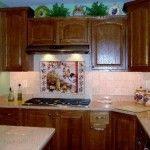 Beautiful Kitchen with Tuscan Tile Backsplash