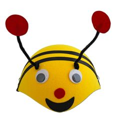 Our children's bee / bumble bee skull cap is prefect for school plays and dress up parties. Make sure your little one looks the part with this cool animal hat. Childrens Fancy Dress, School Play, Animal Hats, Tweety, Pikachu, Bee, Dress Up, Skull, Cool Stuff