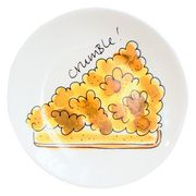 Apple crumble plate by Blond Amsterdam Blond Amsterdam, Amsterdam Food, Ceramic Painting, Food Illustrations, Winter Blond, Plates, Chocolate, Art Posters, Nice Things