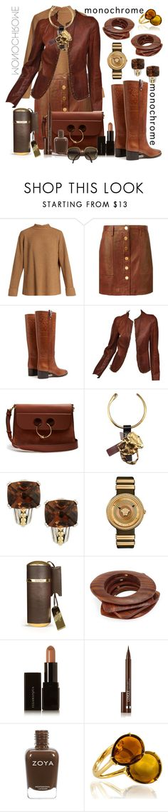 """""""monochrome."""" by seanahr ❤ liked on Polyvore featuring The Row, MICHAEL Michael Kors, Valentino, Tom Ford, J.W. Anderson, Lagos, Versace, Memo Paris, Kenneth Jay Lane and Illamasqua"""