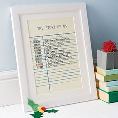 Personalised Story Library Card Print Gifts For Him