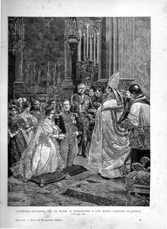 MATRIMONIO TRA IL RE FERDINANDO II DELLE DUE SICILIE SPOSA LA PRINCIPESSA MARIA CRISTINA DI SAVOIA(ERA LA QUINTA FIGLIA DI RE VITTORIO EMANUELE I DI SARDEGNA ) IL  21 NOVEMBRE  1832 A GENOVA VOLTRI- SANTUARIO DELL'ACQUA SANTA.