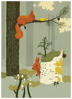 Camilla Engman Forrest Illustration (Squirrels). Bought it, not sure where I'm going to put it.