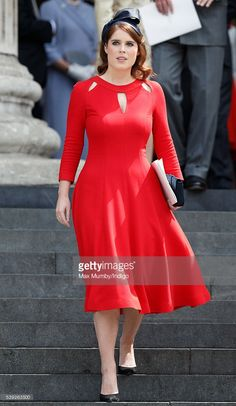 (EMBARGOED FOR PUBLICATION IN UK NEWSPAPERS UNTIL 48 HOURS AFTER CREATE DATE AND TIME) Princess Eugenie attends a national service of thanksgiving to mark Queen Elizabeth II's 90th birthday at St Paul's Cathedral on June 10, 2016 in London, England. (Photo by Max Mumby/Indigo/Getty Images)