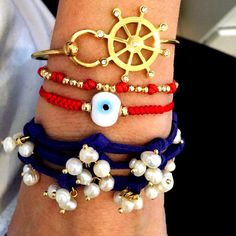 Vila Veloni Jewelry Store - Set By Vila Veloni Amazing Nautical Gold Helm Bracelets, $138.00 (http://www.vilaveloni.com/new-arrivals/set-by-vila-veloni-amazing-nautical-gold-helm-bracelets/)
