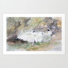 Hare Sketch #2 Art Print by Yousef Balat @ Hoop Snake Graphics LLC - $17.00