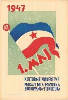 PROPAGANDA POLITICAL TITO YUGOSLAVIA ELECTION RED STAR COMMUNISM POSTER BB2680B