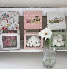 Sweets in sweet boxes Wonderful storage idea.