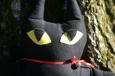 Tabby gatto nero dolce di compagnia  è di StoffEeBizzarriE su Etsy