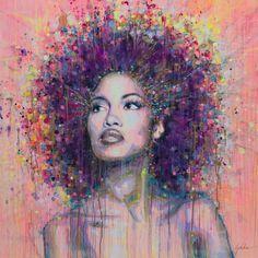 "Saatchi Online Artist: Lykke Steenbach Josephsen; Mixed Media, 2012, Painting ""African woman"""