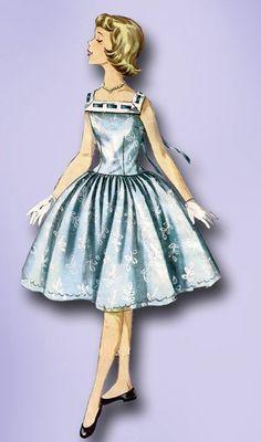 1950s Original Sweet N' Simple Little Girls Party Dress Pattern Sz 10 | eBay