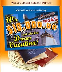 PCH Dream Vacation Sweepstakes. PCH Giveaway No. 4651