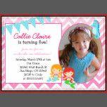 Mermaid Birthday Invitation Invitations Photo card | Zazzle
