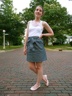 wanna try wearing tank tops tucked into skirts and see how they look.
