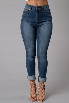 Crawford High Rise Jeans - Medium Wash