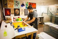 """""""I feel very lucky to be part of this transition in the art world for the Chicano and Latino Community."""" --Jonathan Rebolloso, Screen Printer, Serie Project"""