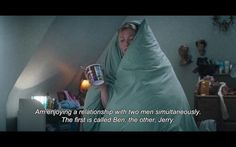 Bridget Jones affair with Ben & Jerry. Haha I feel like every girl has these kind of moments.