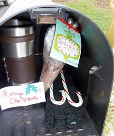 Leave a surprise gift for your mail carrier!