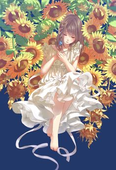 White One-Piece Dresses! - pixiv Spotlight