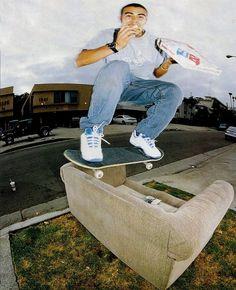 The legend himself. He's a legend. We could skate Skateboard Mode, Skateboard Photos, Skate Photos, Skateboard Fashion, Skate Fashion, Eric Koston, Vintage Skateboards, Skate And Destroy, Skater Boys