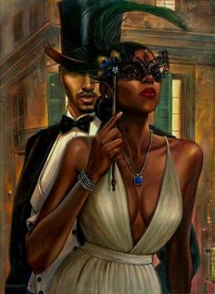 This page features artwork that highlight the Elegance & Beauty of African American Women. Black Love Art, Black Girl Art, My Black Is Beautiful, Black Girl Magic, Art Girl, African American Art, African Art, Image Couple, Art Beauté