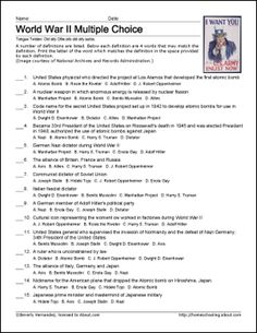 world war ii essay test questions World war ii unit test please read the directions prior to beginning every section essay: choose one of the world war ii unit test answer key.
