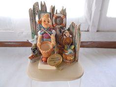 Hummel Goebel Hummelscape Fisherman's Feast + Little Helper Figurine Germany