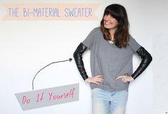 The bi-material sweater :: DIY