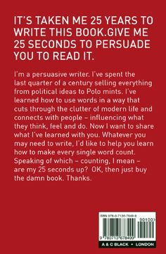 Writing a good book