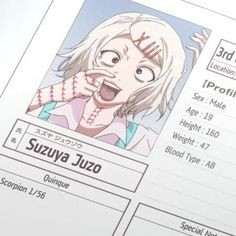 Suzuya Juzo | Tokyo Ghoul - - - - - ✂ - - - - - - -