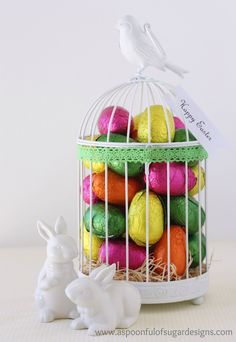 Simple easter gift idea mason jar candy easter gift and holidays negle Images