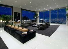 ideen für eine große fensterwand * ausgefallene fenstergestaltung ... - Grose Moderne Wohnzimmer