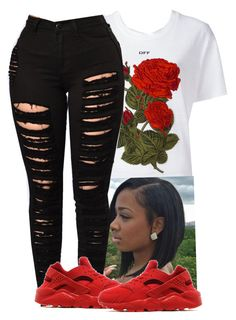 A fashion look from July 2017 featuring crew neck t shirt and ripped jeans. Browse and shop related looks. Cute Swag Outfits, Cute Outfits For School, Chill Outfits, Dope Outfits, Urban Outfits, Trendy Outfits, Summer Outfits, Teen Fashion Outfits, Teenage Outfits