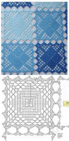 27 ideas crochet rug diy tutorials yarns for 2019 Crochet Doily Patterns, Granny Square Crochet Pattern, Crochet Mandala, Crochet Chart, Crochet Squares, Thread Crochet, Crochet Designs, Easy Crochet, Granny Squares