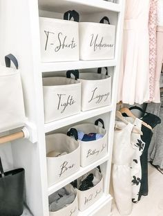 apartment decor Organizeyour closet shelveswith our charming canvas storage baskets, featuring custom text. We use sturdy unbleached cotton canvas to create our closet storage bins, an Diy Home Decor Rustic, Luxury Home Decor, Farmhouse Decor, Farmhouse Design, Modern Farmhouse, Cute Dorm Rooms, Cool Rooms, Closet Storage Bins, Closet Shelves