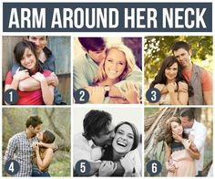 Pose Ideas for Couples: Arm Around Her Neck