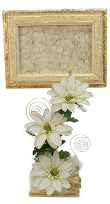 Portarretrato para Boda / Marco de madera / Centro de mesa
