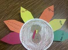 Do with math (5 on turkey, representations on feathers)