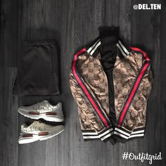 """8,165 Likes, 56 Comments - Outfitgrid™ (@outfitgrid) on Instagram: """"Today's top #outfitgrid is by @del.ten. ▫️ #Gucci #Jacket #Sneakers & #Sweater ▫️ #Balenciaga #Pants"""""""
