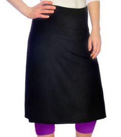 Sports skirt with contrasting leggings
