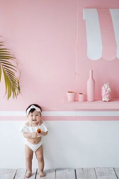 Emma's first photoshoot in summer ice cream theme