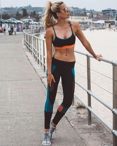 """#REVOLVEACTIVE babe tip: """"I love to change up my workouts to keep things fresh and my motivation high. I've just started swimming again which is such a great all over body workout"""" - @substance_blog wearing @splits59 sports bra + leggings (style # SPLR-WM64, SPLR-WM66)"""