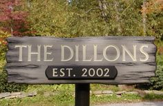 Dillons Family Name Sign