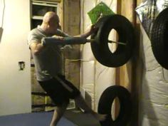Transitions from striking, punching, kicking with locks and throws, using my homemade tire dummy. Fitness Workouts, Leg Workouts For Men, Gym Workout Tips, No Equipment Workout, Wing Chun Martial Arts, Kung Fu Martial Arts, Martial Arts Workout, Martial Arts Training, Martial Arts Techniques