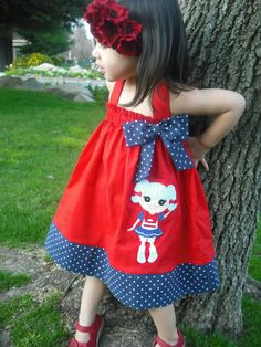 Baby Girl Marine Halter Dress by mycutebabystore1 on Etsy