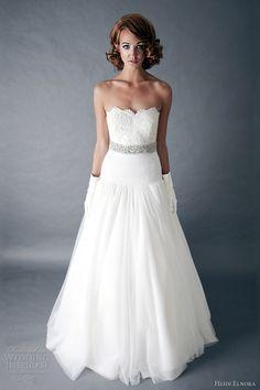 heidi elnora spring 2013 wedding dress sandlyn fultz dropped waist full a line gown